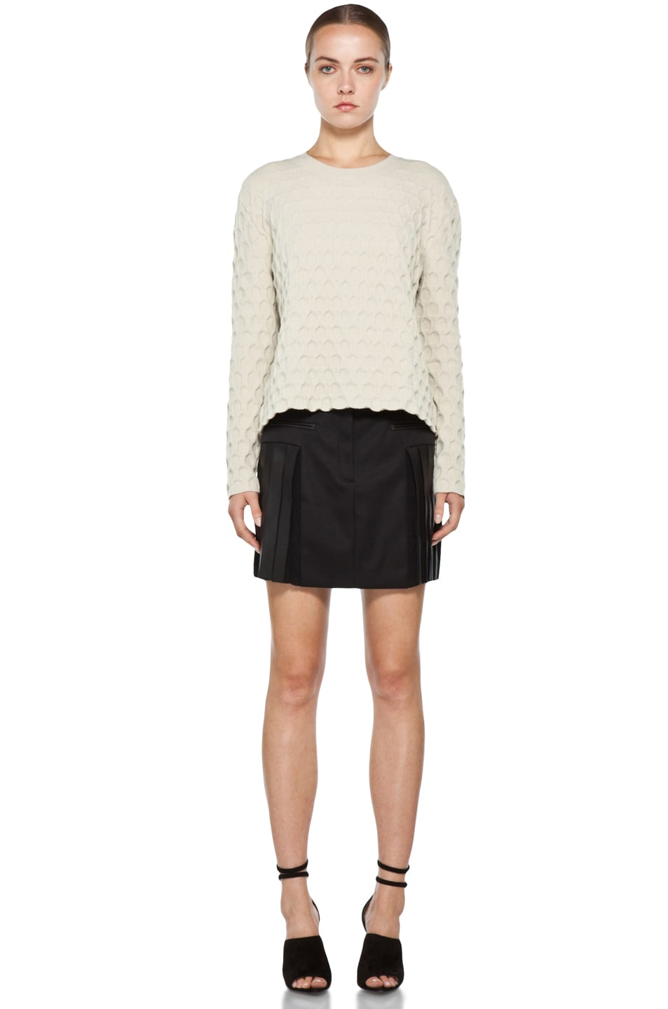 Image 5 of Alexander Wang Pleated Mini Skirt in Black