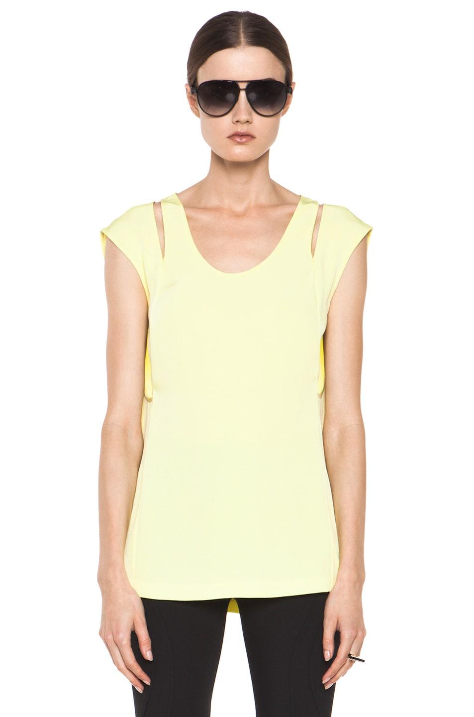 Image 1 of Alexander Wang Double Back Tank in Citrine