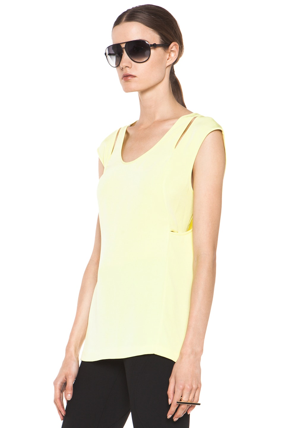 Image 2 of Alexander Wang Double Back Tank in Citrine