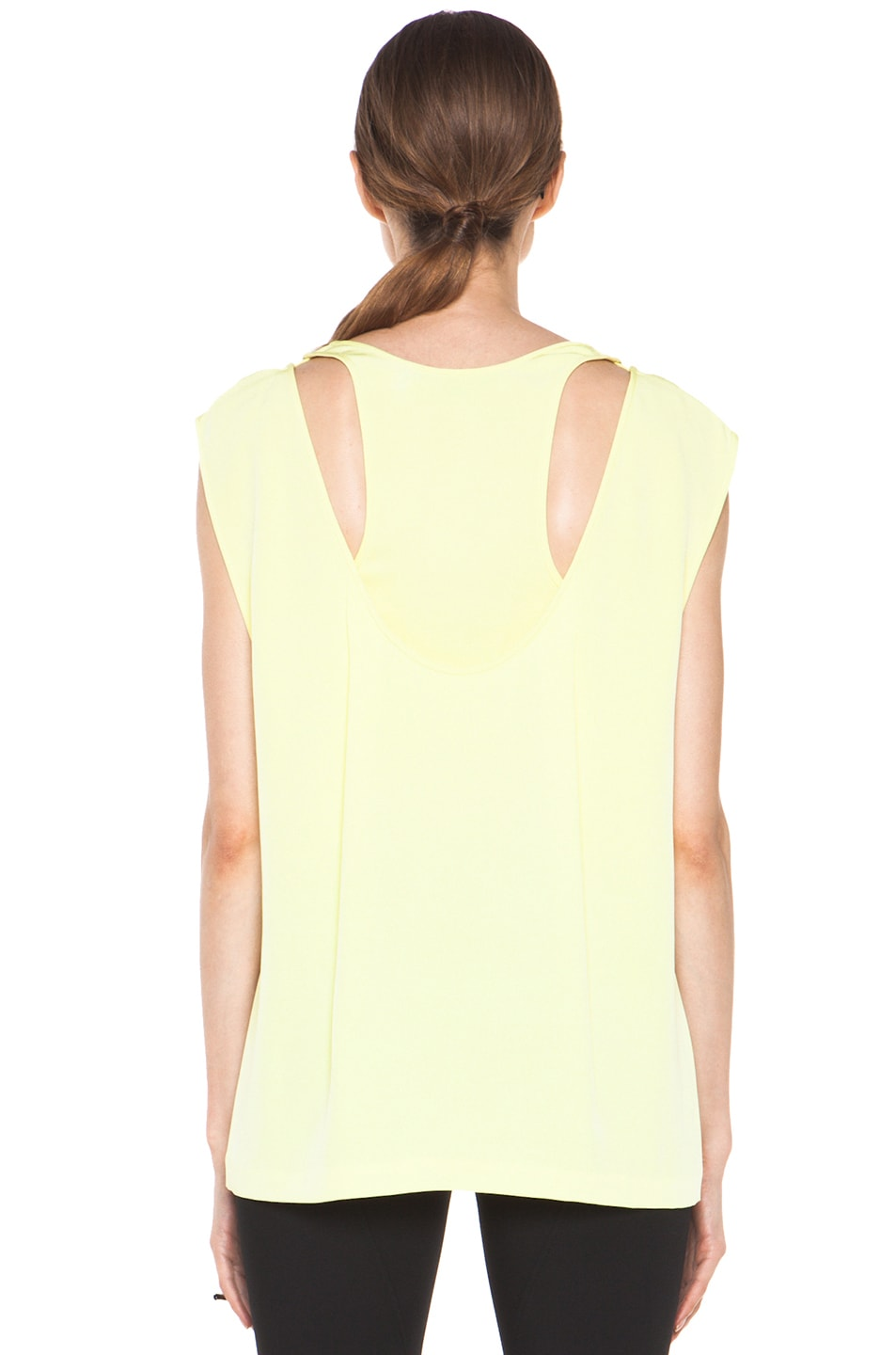 Image 4 of Alexander Wang Double Back Tank in Citrine