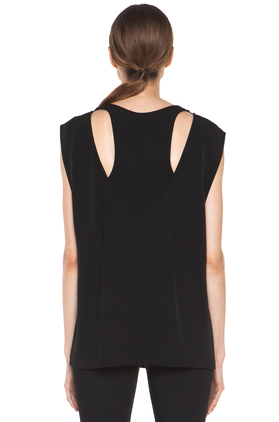 Image 4 of Alexander Wang Double Back Tank in Black