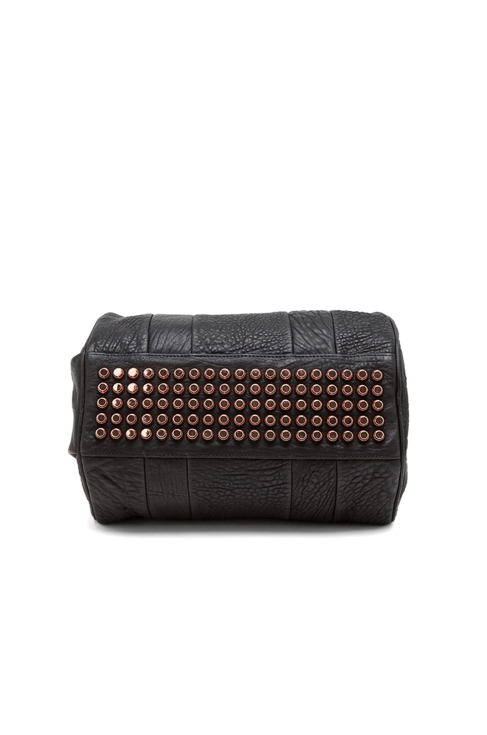 Image 3 of Alexander Wang Rocco Satchel with Rose Gold Hardware in Black