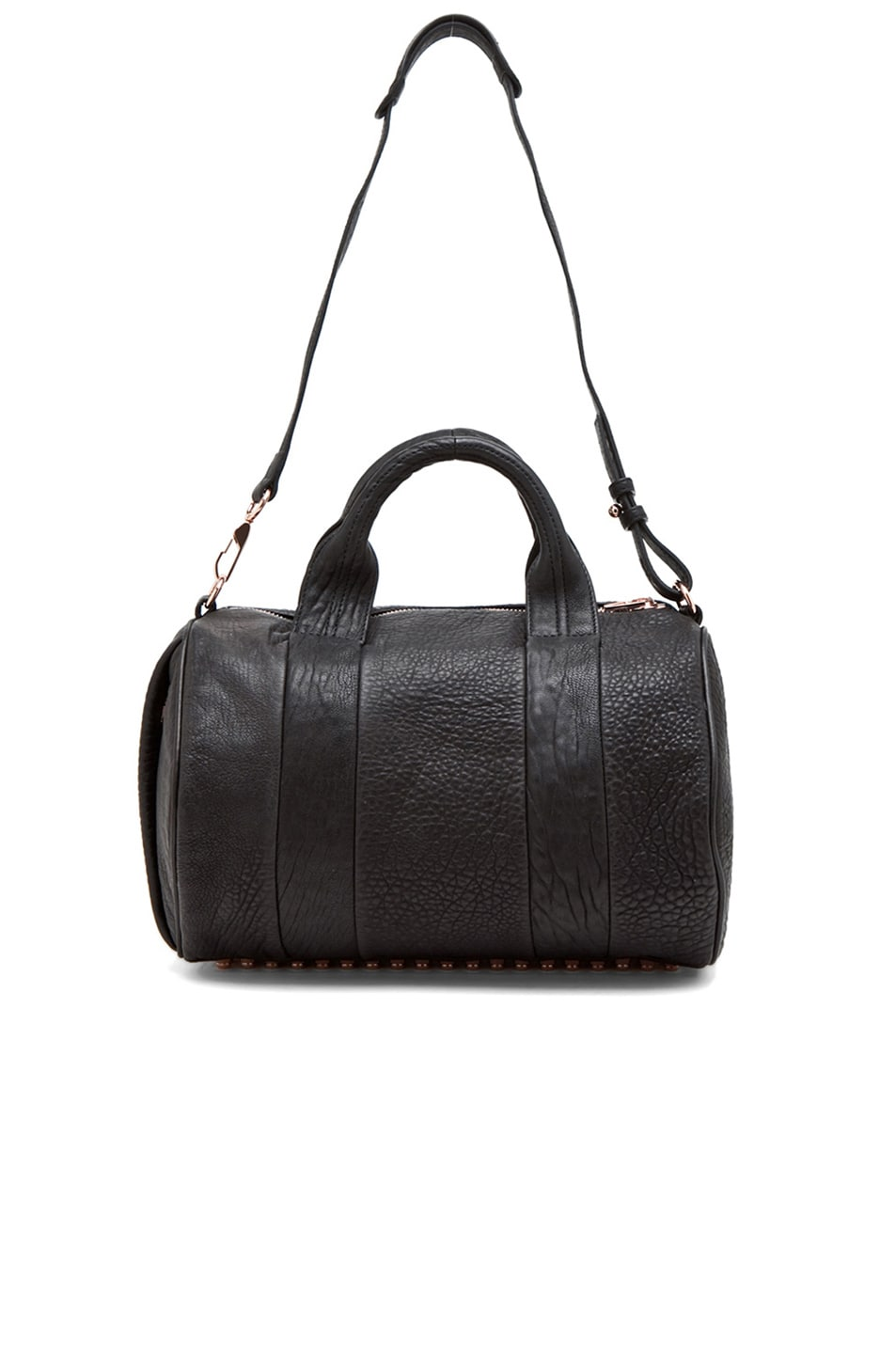 Image 5 of Alexander Wang Rocco Satchel with Rose Gold Hardware in Black