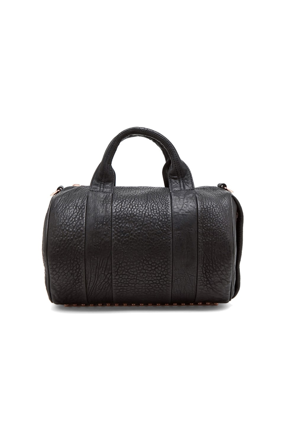 Image 6 of Alexander Wang Rocco Satchel with Rose Gold Hardware in Black