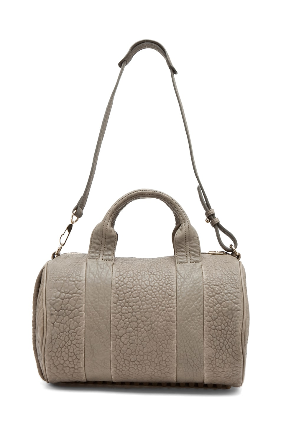Image 4 of Alexander Wang Rocco Satchel in Granite