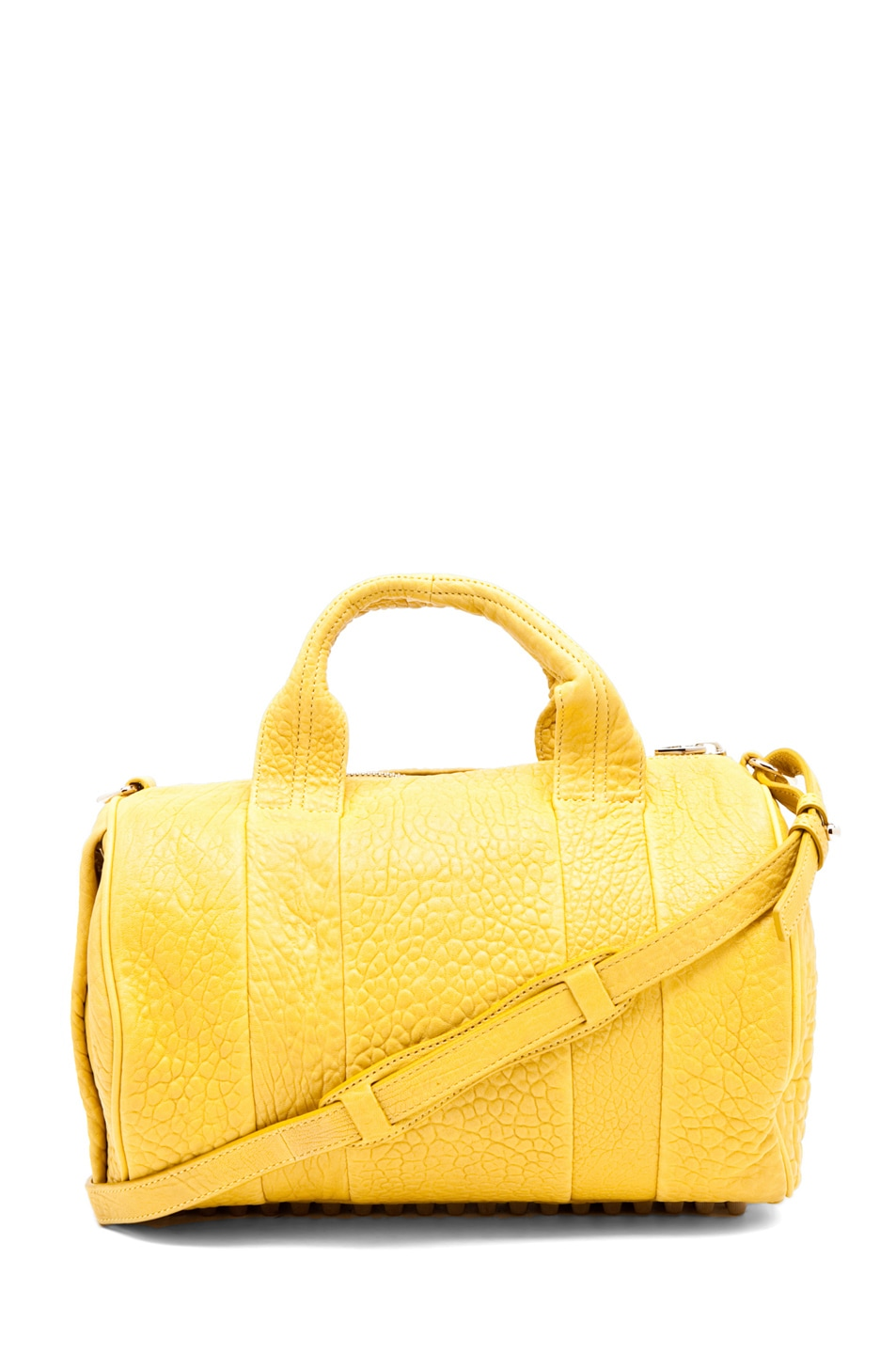 Image 1 of Alexander Wang Rocco Satchel in Citrus