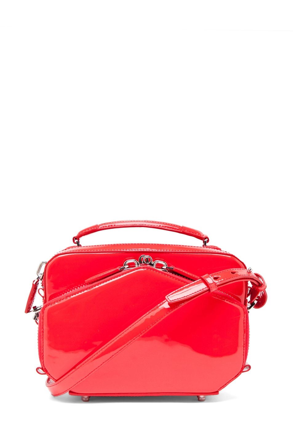 Image 1 of Alexander Wang Rafael Structured Bag in Patent Persimmon