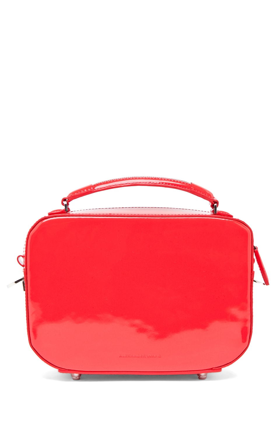 Image 2 of Alexander Wang Rafael Structured Bag in Patent Persimmon