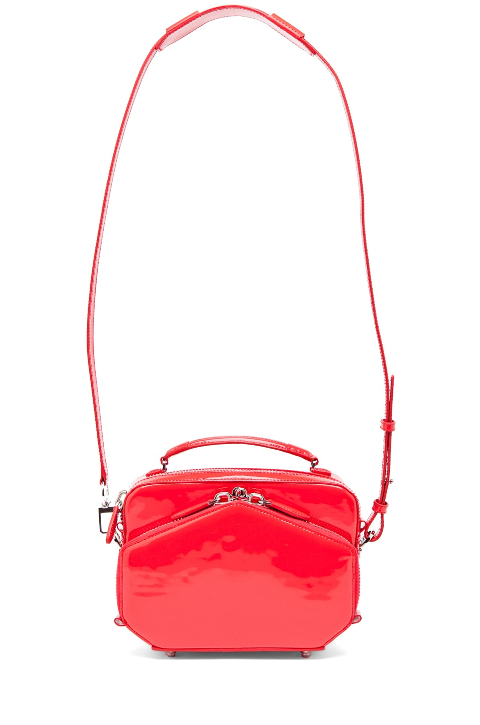 Image 5 of Alexander Wang Rafael Structured Bag in Patent Persimmon