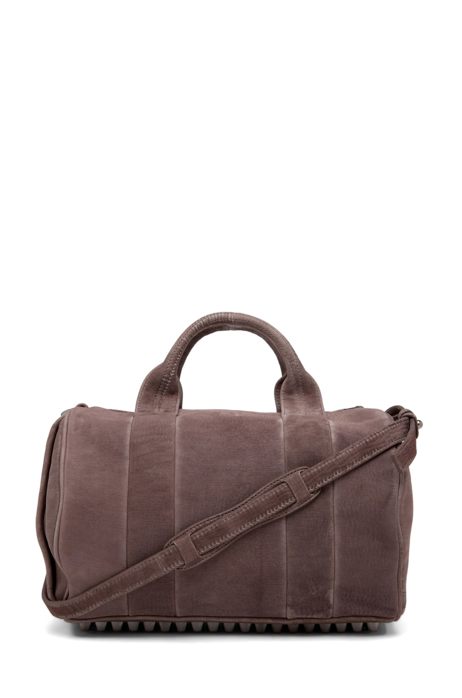 Image 1 of Alexander Wang Rocco Satchel Laser-Cut Velvet Bag in Grey