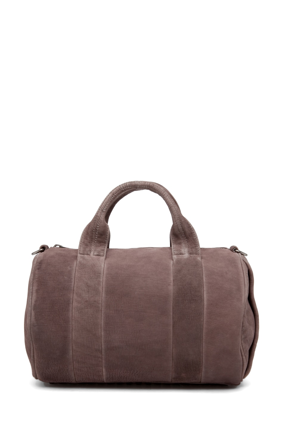 Image 2 of Alexander Wang Rocco Satchel Laser-Cut Velvet Bag in Grey