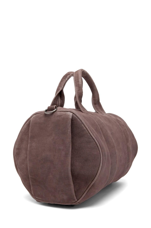 Image 3 of Alexander Wang Rocco Satchel Laser-Cut Velvet Bag in Grey