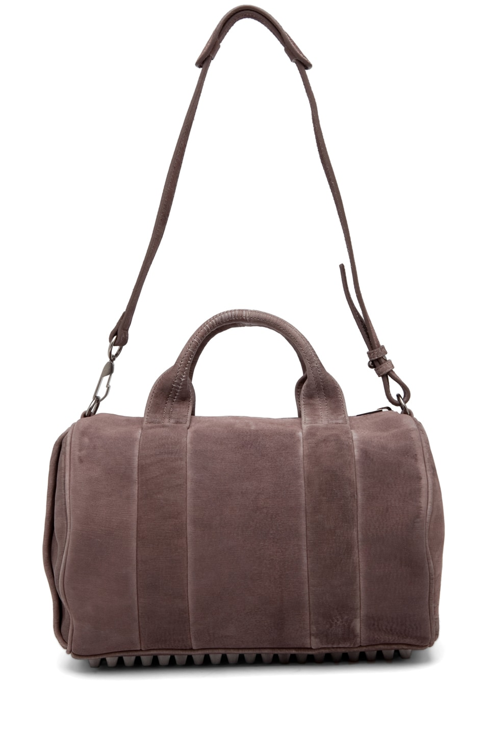 Image 6 of Alexander Wang Rocco Satchel Laser-Cut Velvet Bag in Grey