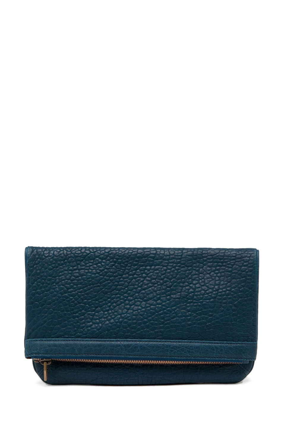 Image 1 of Alexander Wang Dumbo Soft Clutch in Petrol