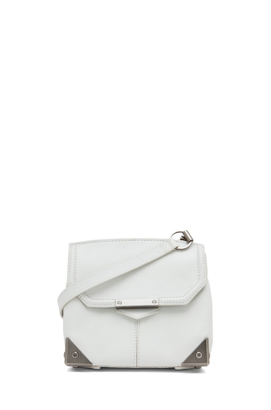 Image 1 of Alexander Wang Marion Mini Flap Bag in Parchment