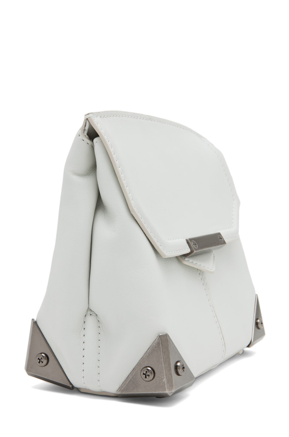 Image 3 of Alexander Wang Marion Mini Flap Bag in Parchment