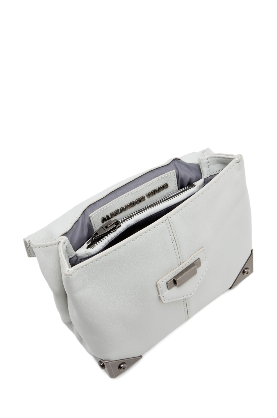 Image 4 of Alexander Wang Marion Mini Flap Bag in Parchment