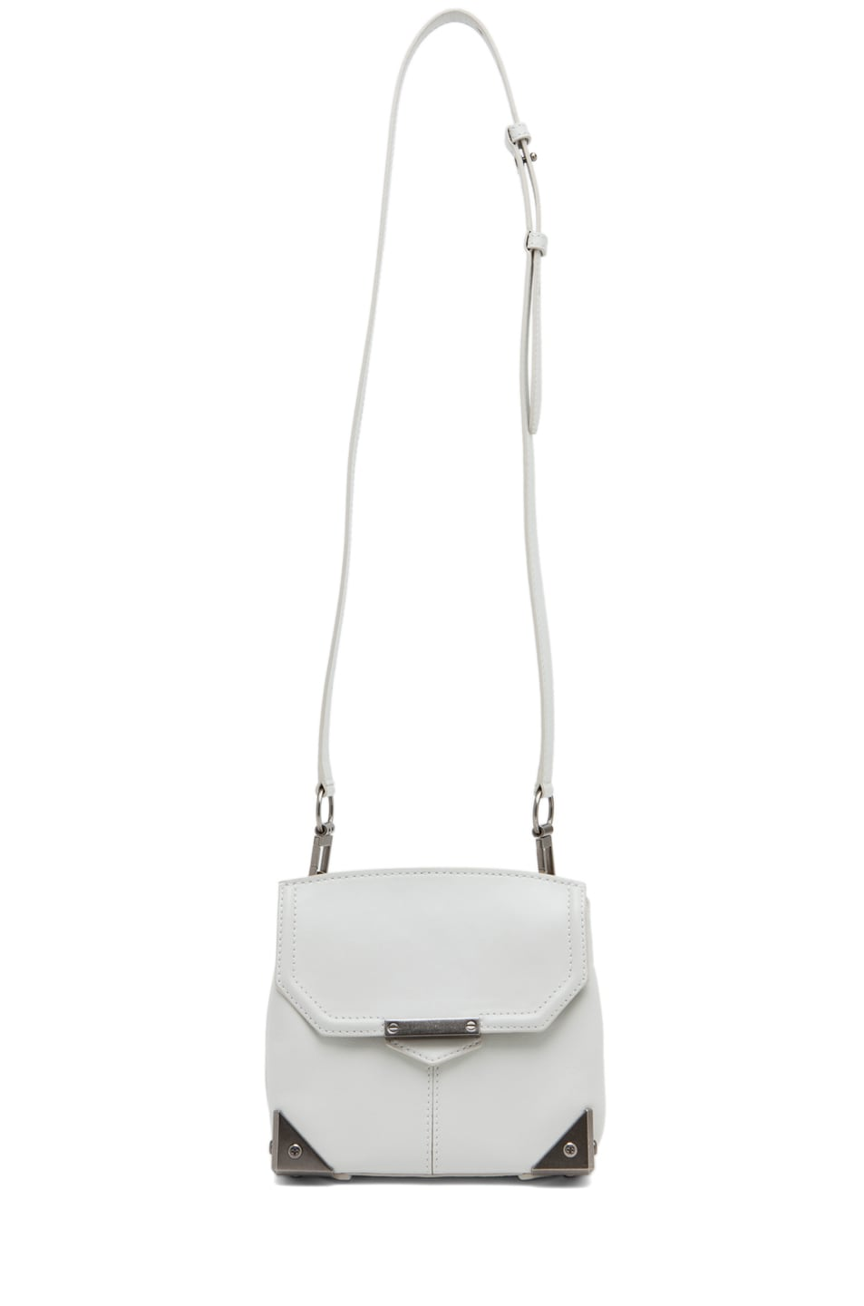 Image 5 of Alexander Wang Marion Mini Flap Bag in Parchment