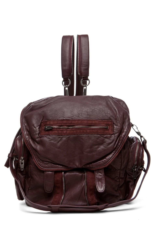 Image 1 of Alexander Wang Marti Backpack in Burgundy
