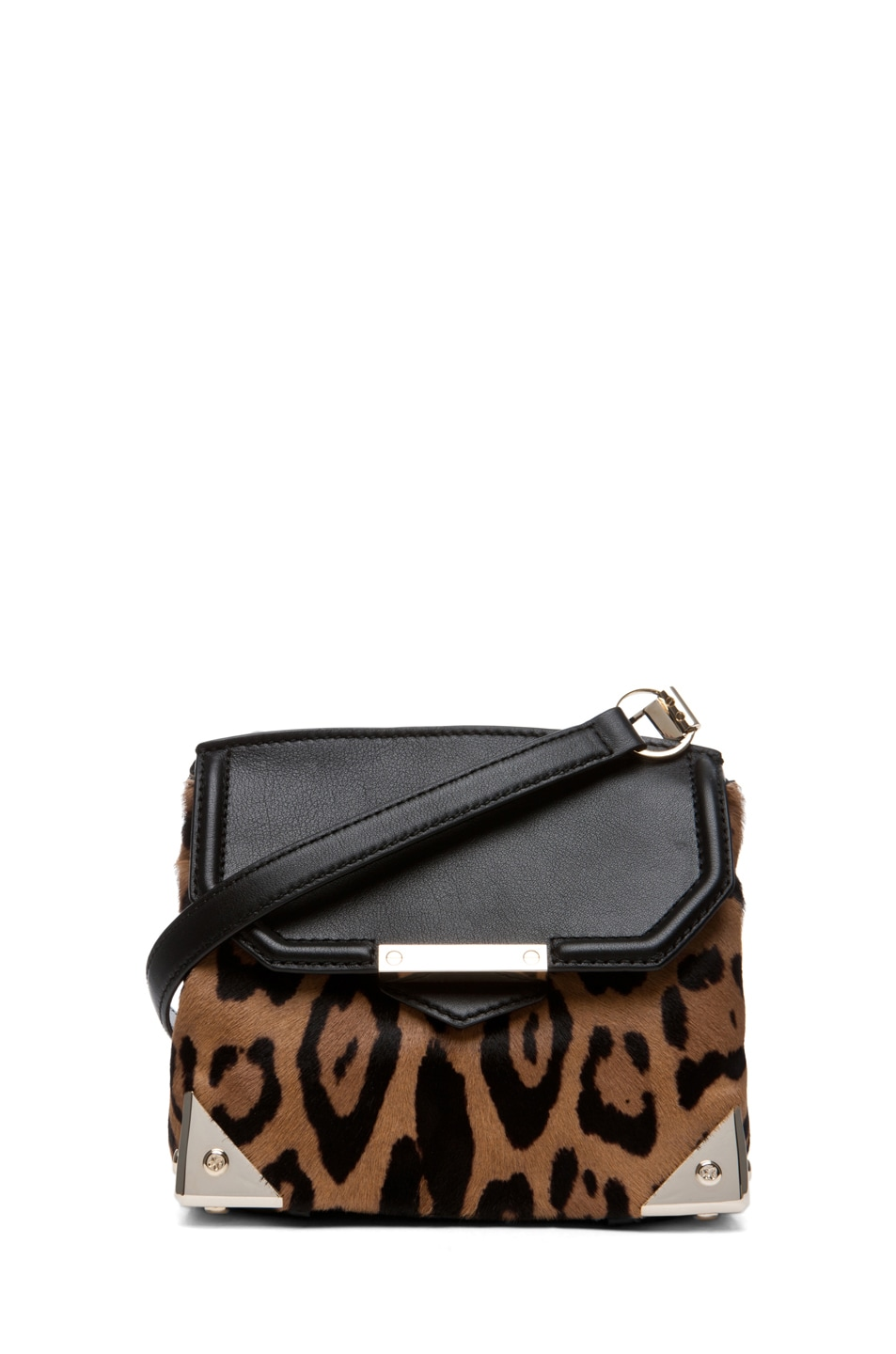 Image 1 of Alexander Wang Marion Leopard Print Satchel in Natural
