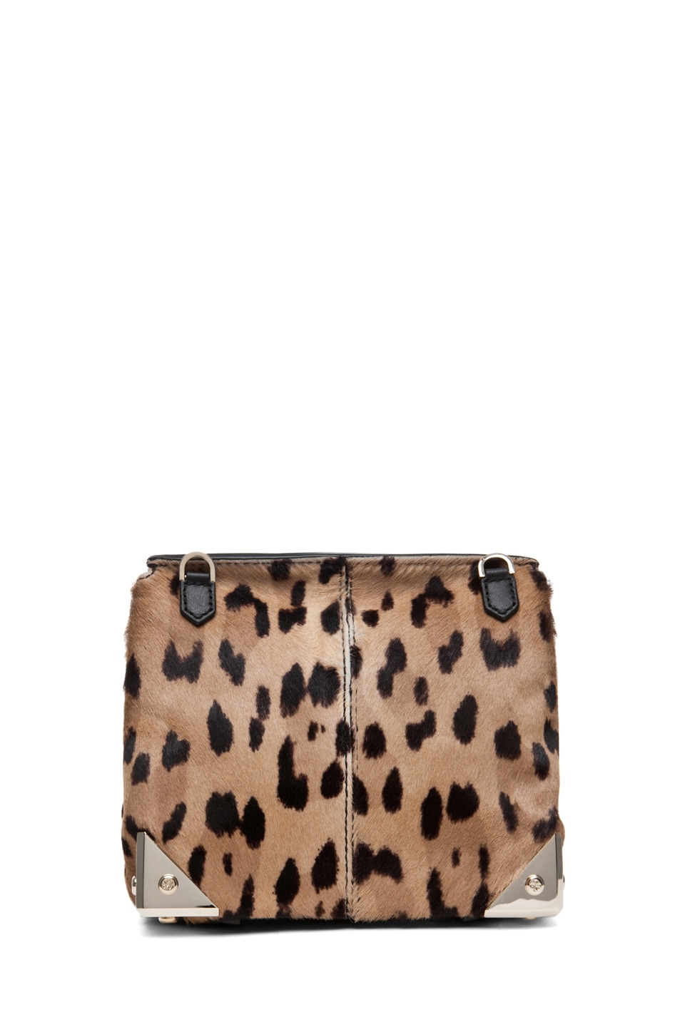 Image 2 of Alexander Wang Marion Leopard Print Satchel in Natural