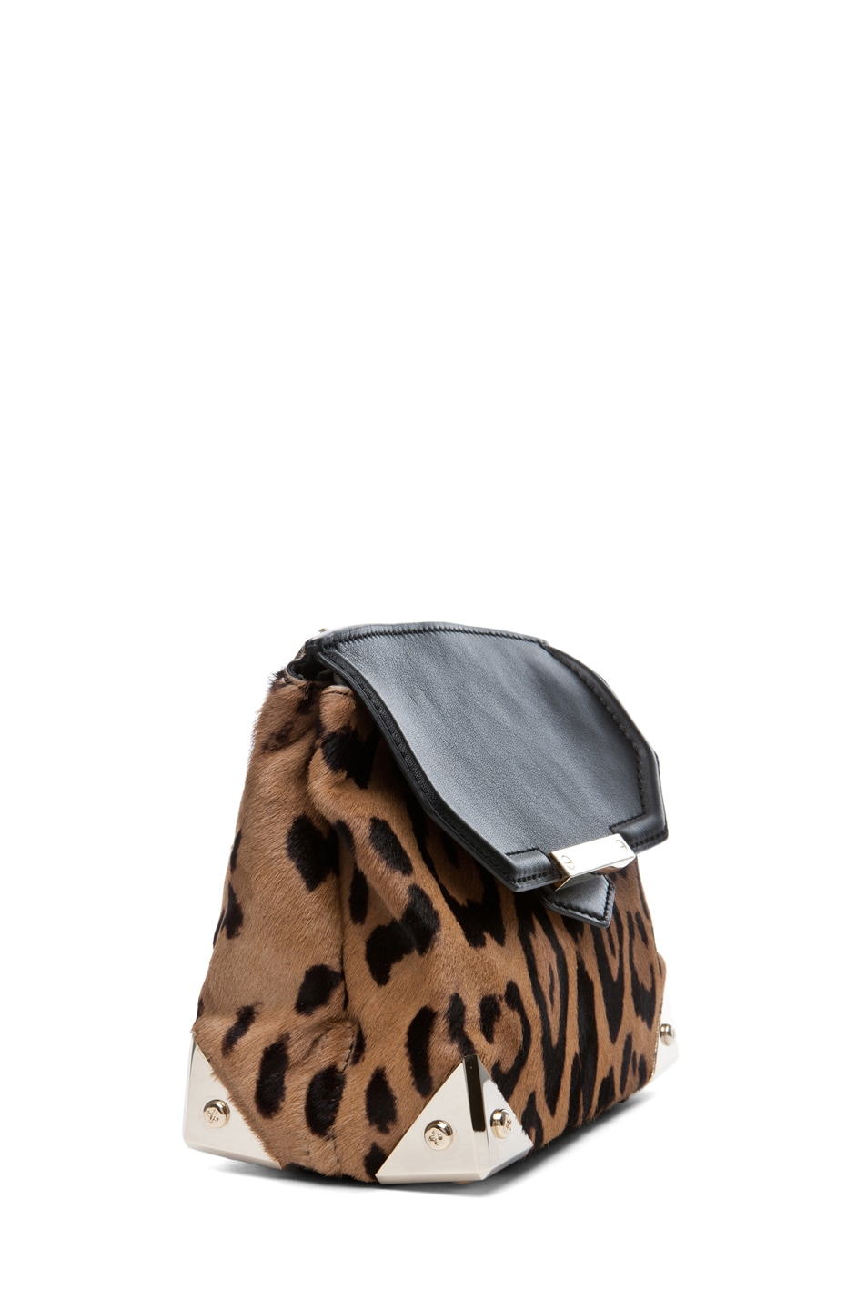 Image 3 of Alexander Wang Marion Leopard Print Satchel in Natural