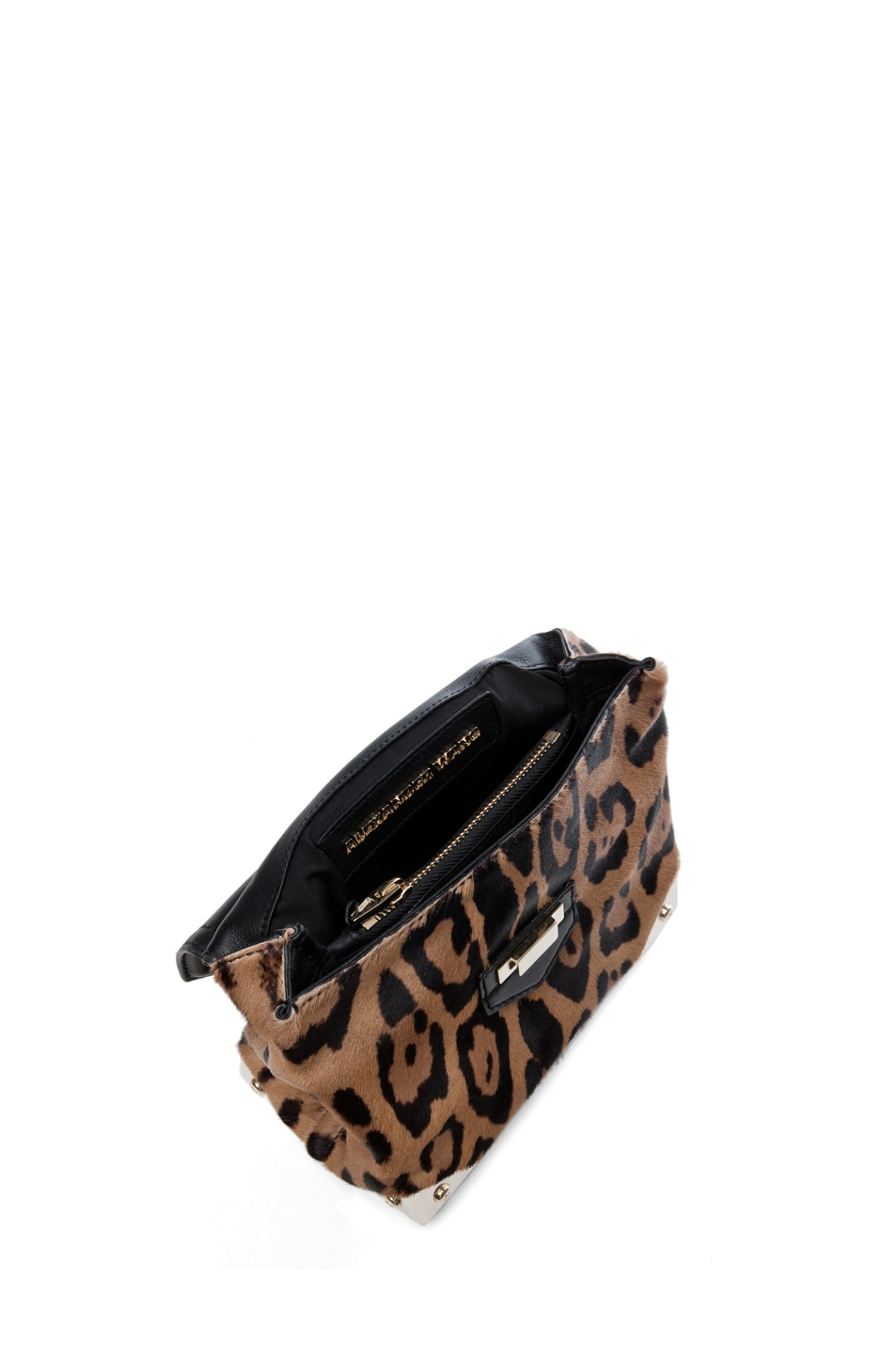 Image 4 of Alexander Wang Marion Leopard Print Satchel in Natural