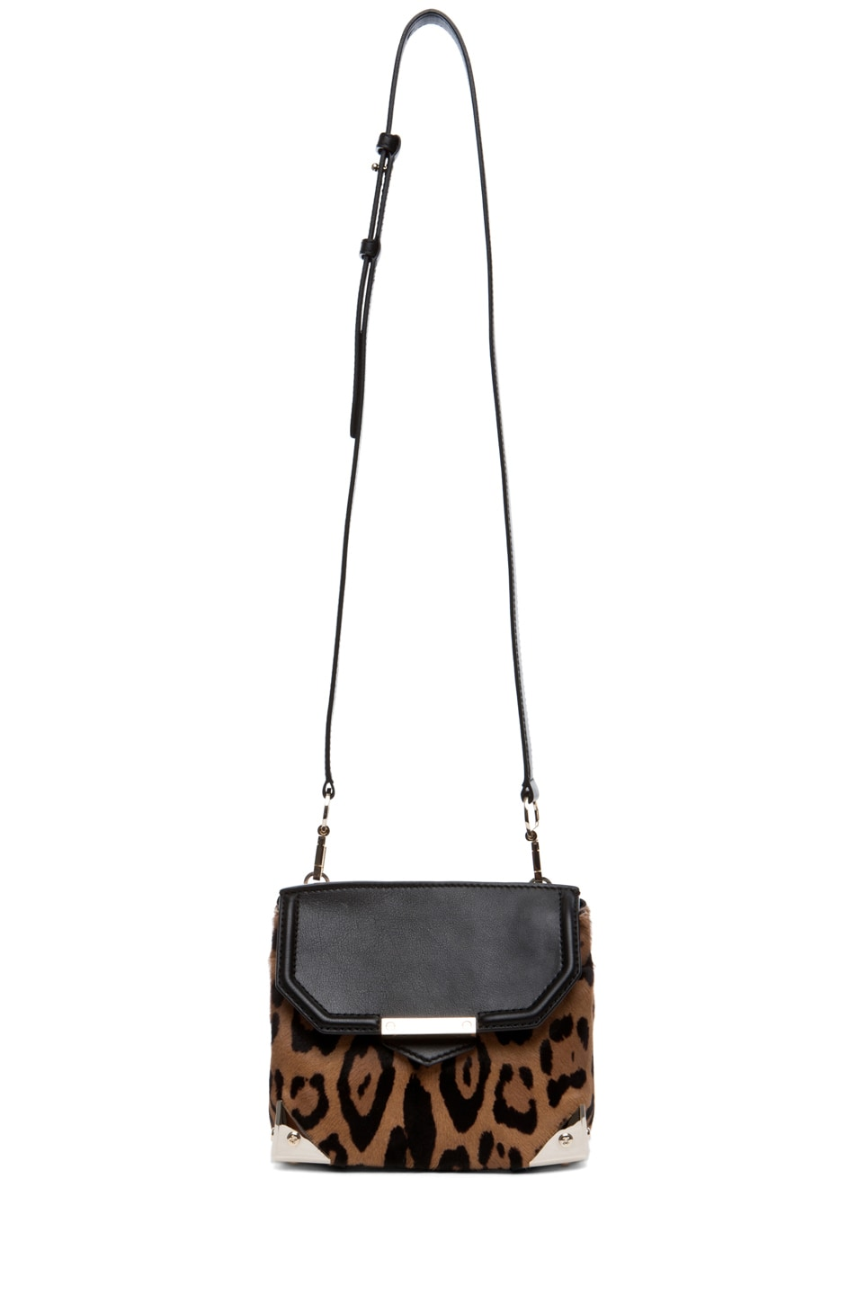 Image 5 of Alexander Wang Marion Leopard Print Satchel in Natural