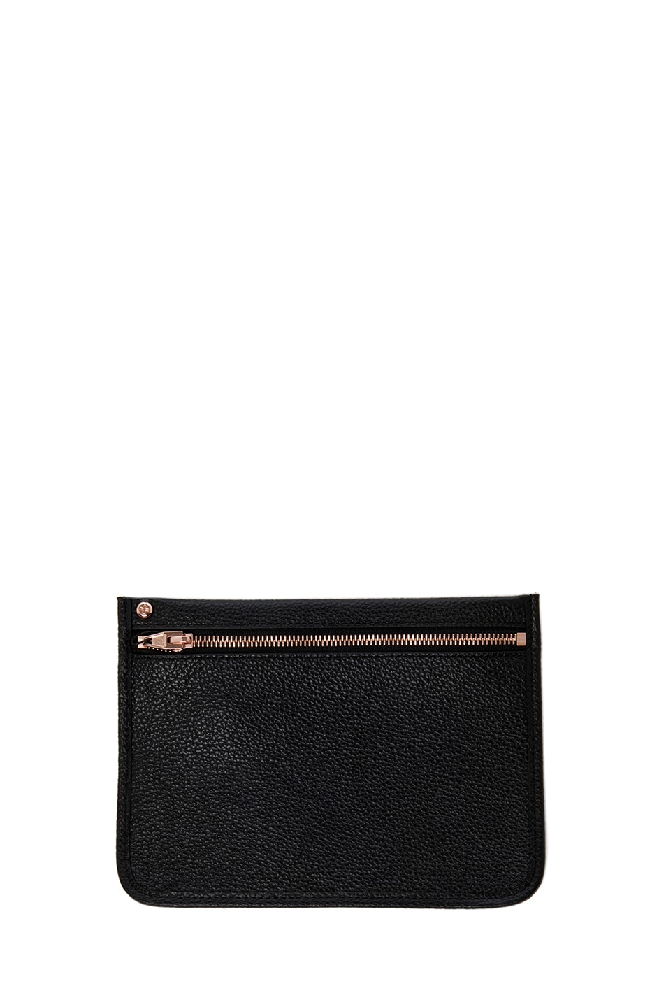 Image 5 of Alexander Wang Prisma Pebble Grain Tote with Rose Gold in Black