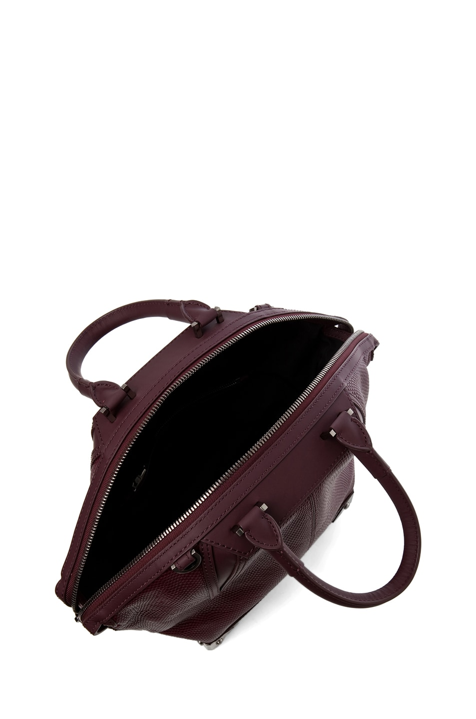 Image 4 of Alexander Wang Small Emile Lizard Print Tote in Oxblood
