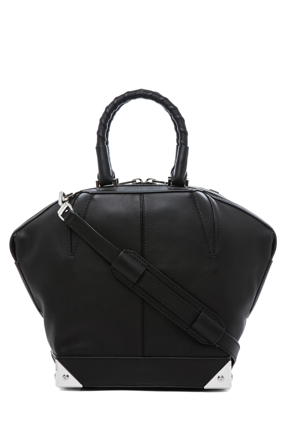Image 1 of Alexander Wang Small Emilie Satchel with Bike Handle in Black