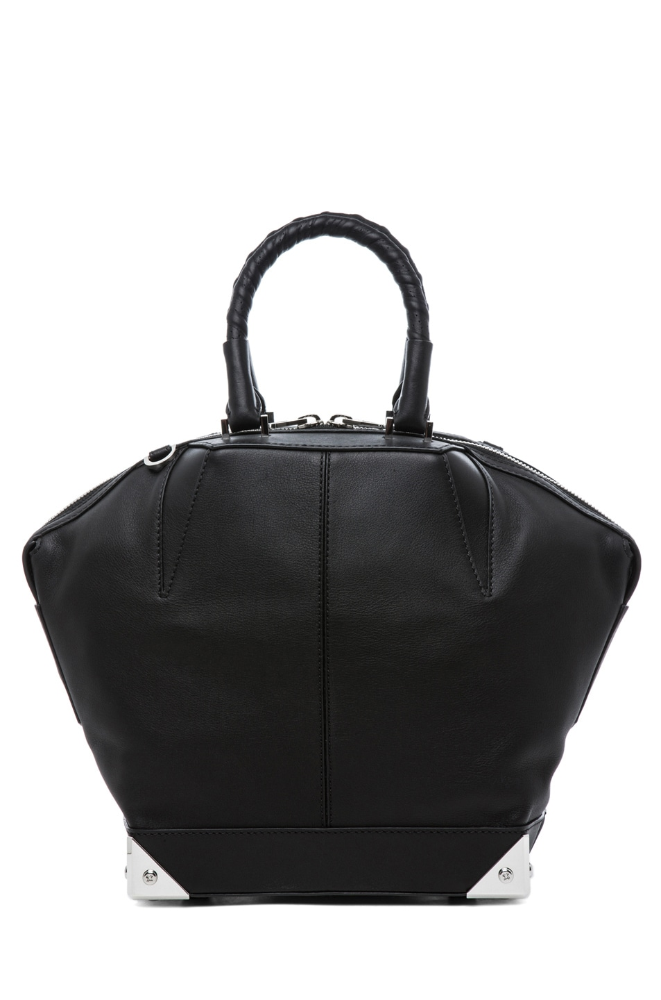 Image 2 of Alexander Wang Small Emilie Satchel with Bike Handle in Black