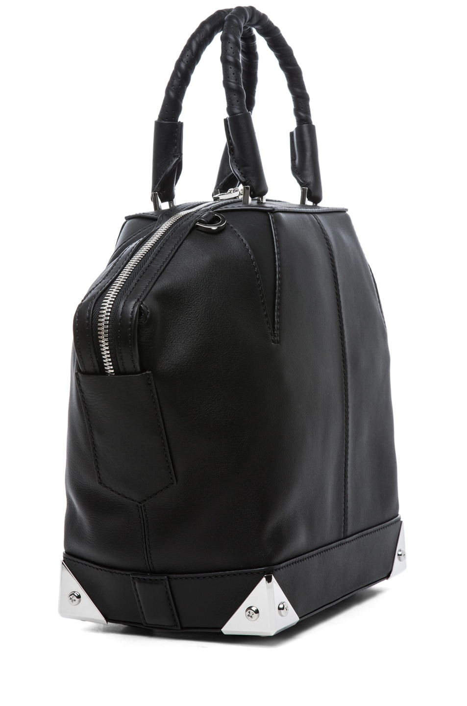 Image 3 of Alexander Wang Small Emilie Satchel with Bike Handle in Black