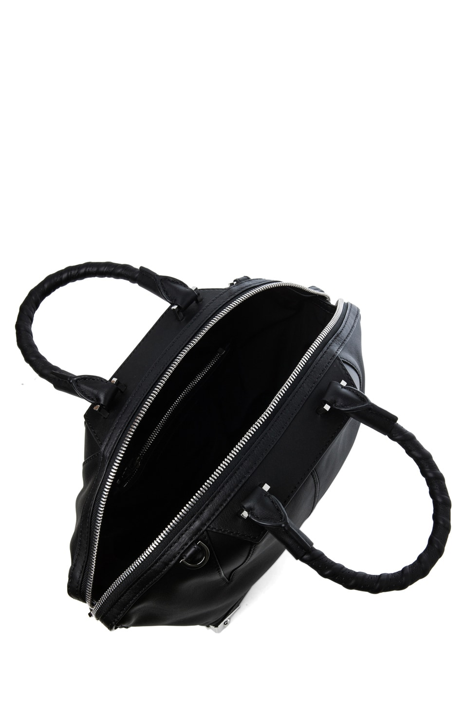 Image 4 of Alexander Wang Small Emilie Satchel with Bike Handle in Black