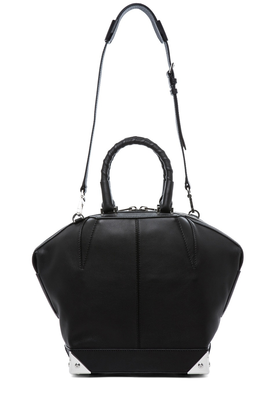 Image 5 of Alexander Wang Small Emilie Satchel with Bike Handle in Black