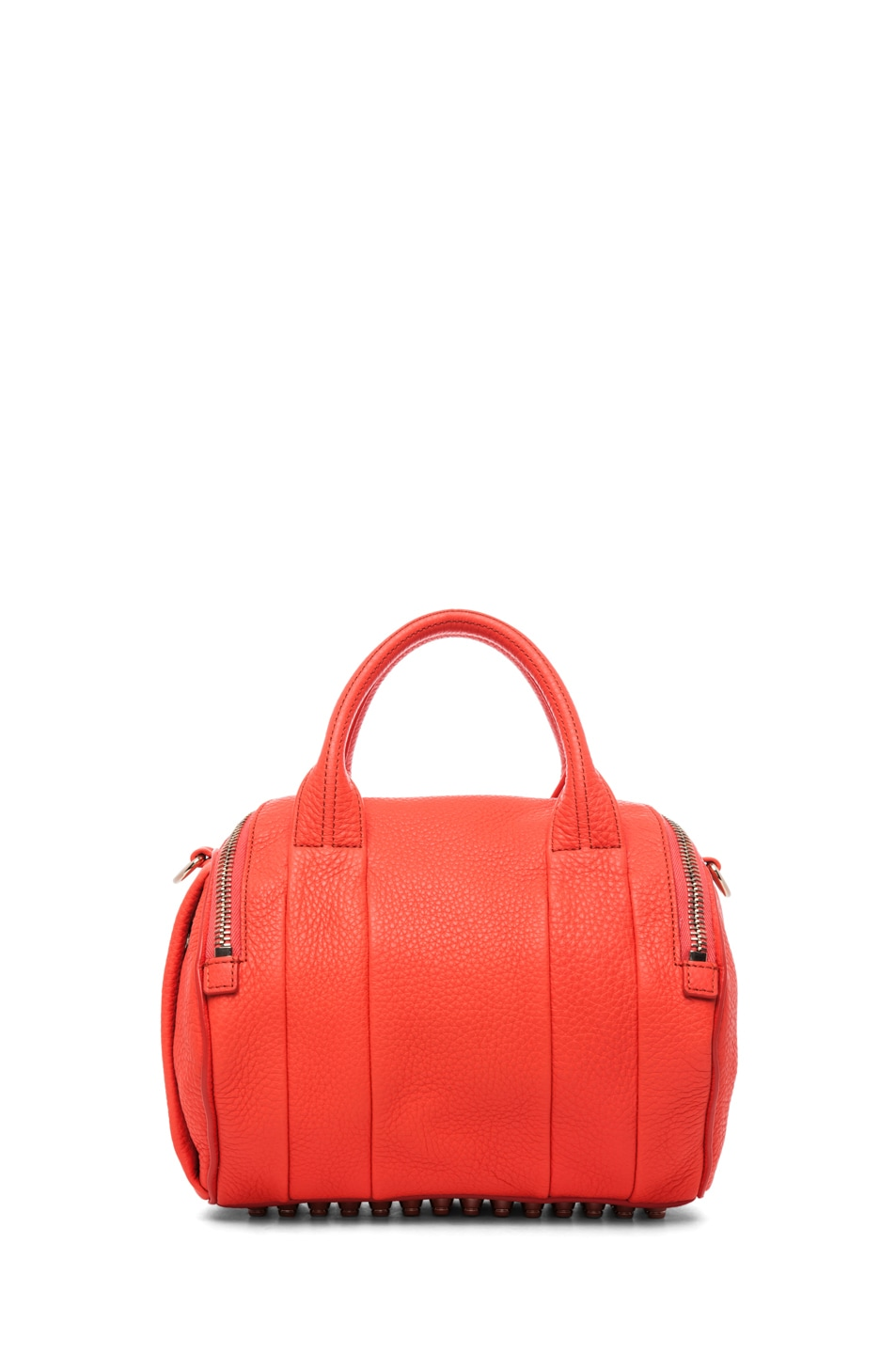 Image 2 of Alexander Wang Rockie Soft Pebble Leather Shoulder Bag in Tang