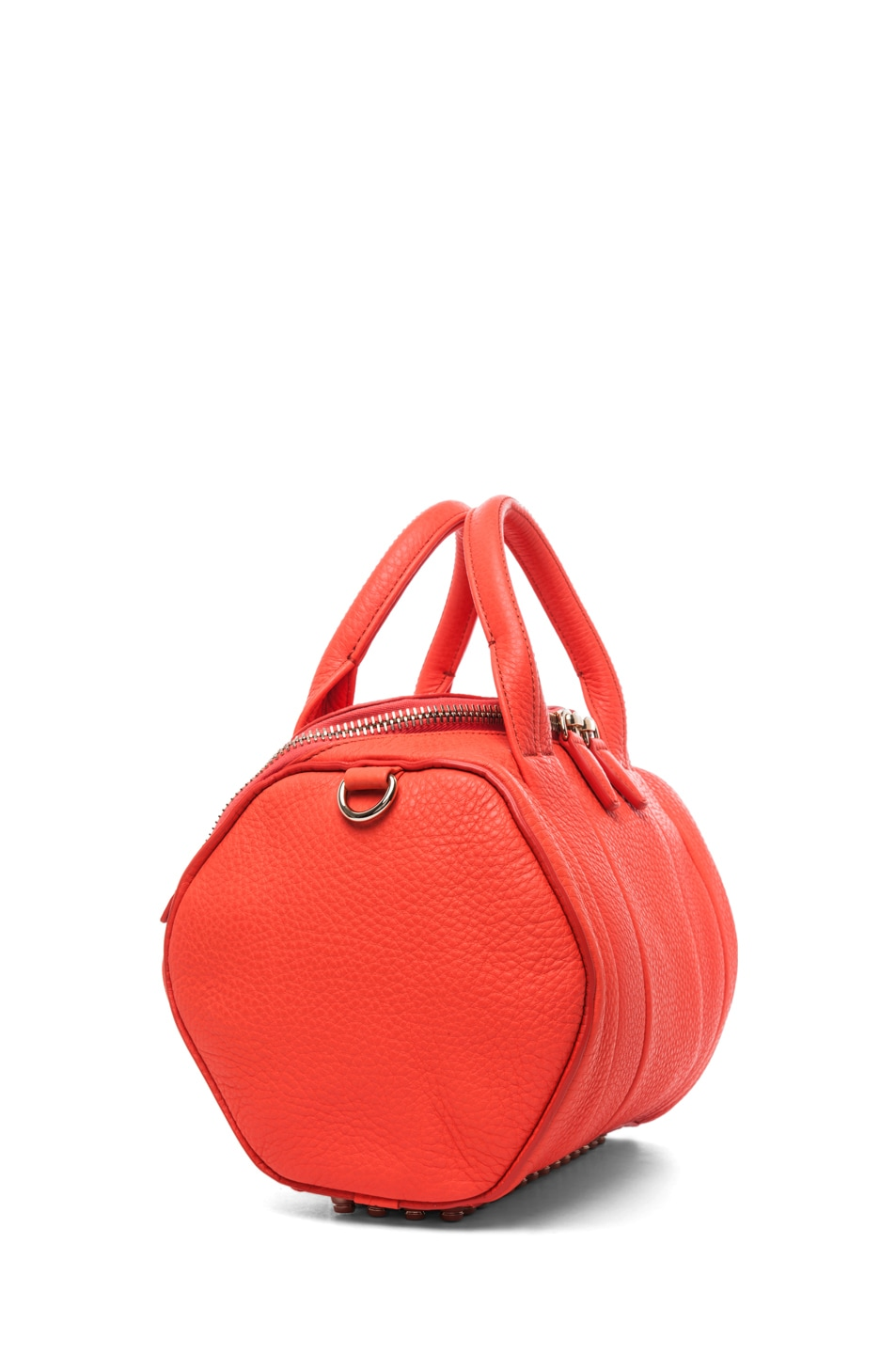 Image 3 of Alexander Wang Rockie Soft Pebble Leather Shoulder Bag in Tang