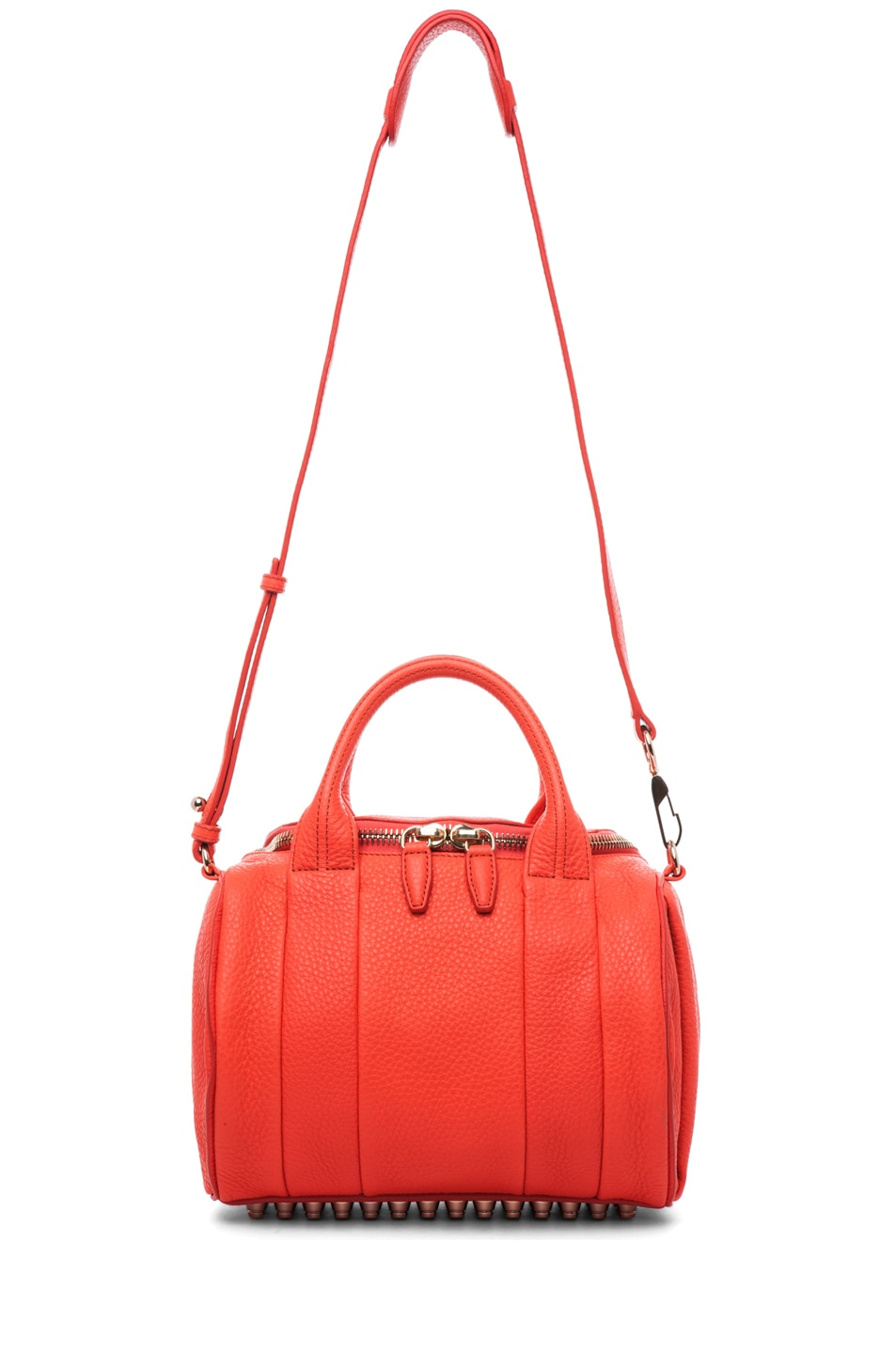 Image 6 of Alexander Wang Rockie Soft Pebble Leather Shoulder Bag in Tang
