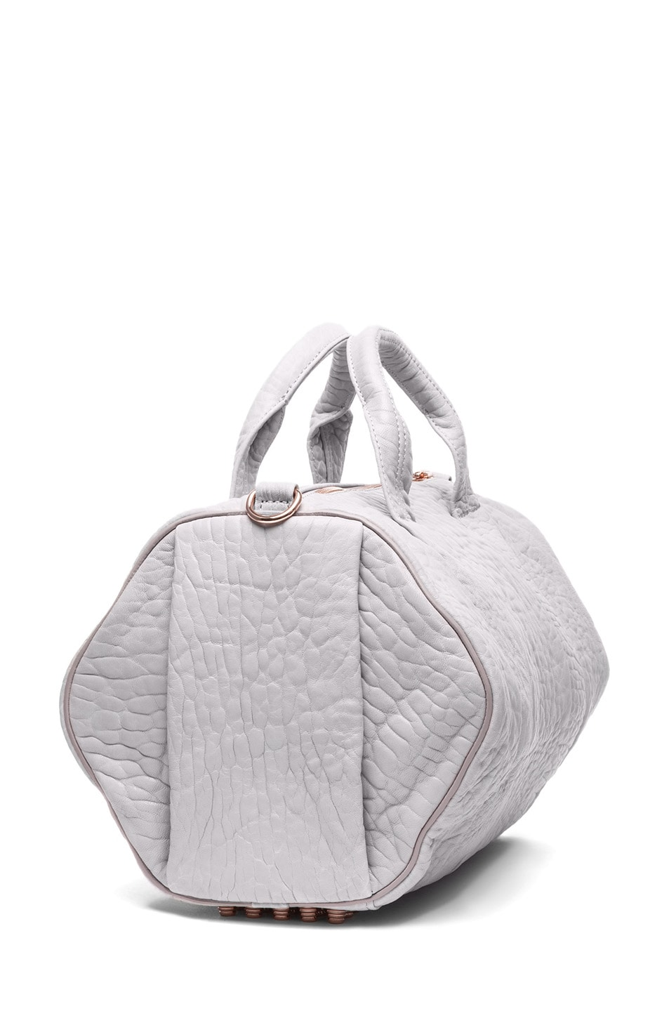 Image 3 of Alexander Wang Rocco Shoulder Bag with Rose Gold in Lilac