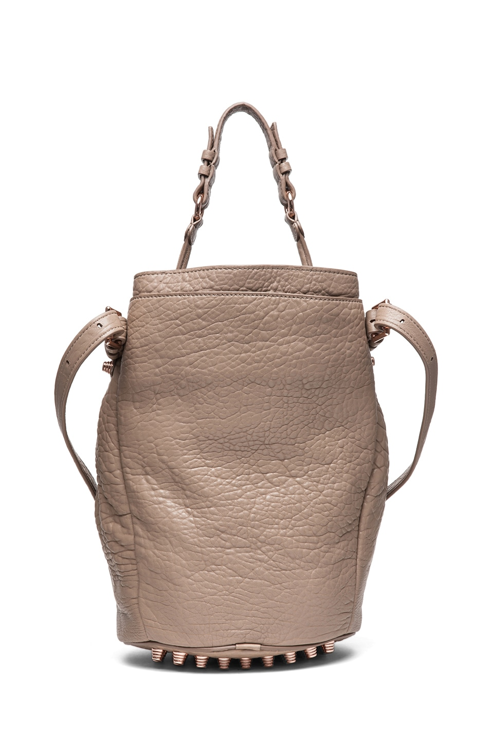 Image 2 of Alexander Wang Diego Bucket Bag with Rose Gold in Latte