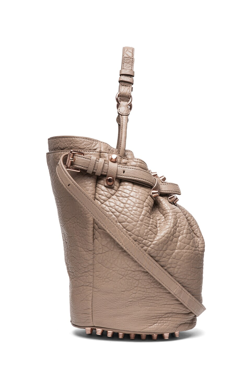 Image 3 of Alexander Wang Diego Bucket Bag with Rose Gold in Latte