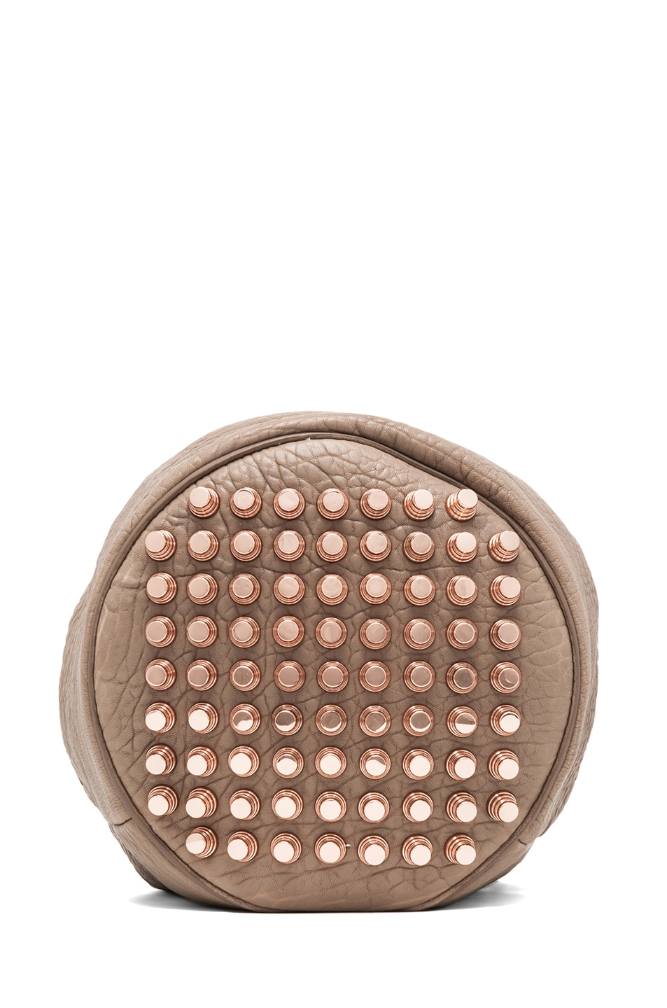 Image 4 of Alexander Wang Diego Bucket Bag with Rose Gold in Latte