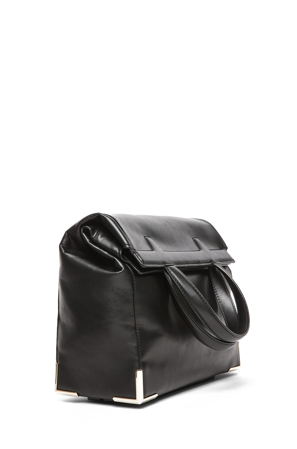 Image 3 of Alexander Wang Prisma Skeletal Lunch Bag in Black