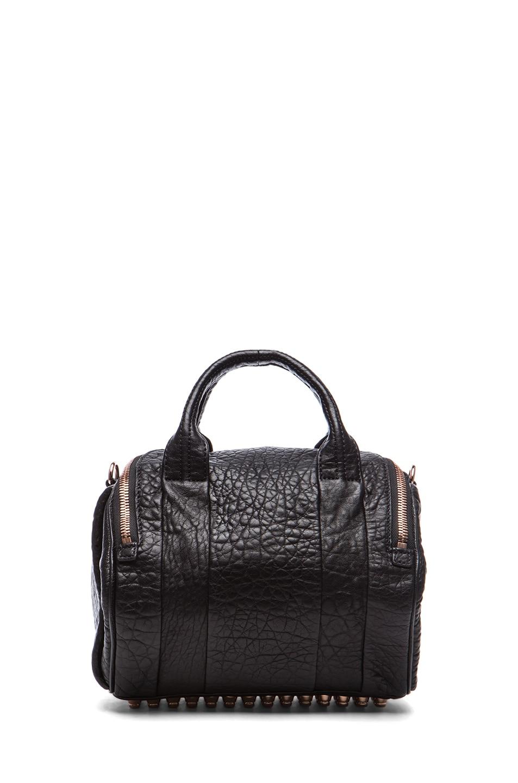 Image 2 of Alexander Wang Rockie Handbag with Rose Gold in Black