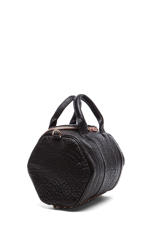 Image 3 of Alexander Wang Rockie Handbag with Rose Gold in Black