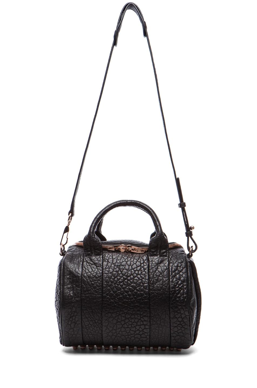 Image 5 of Alexander Wang Rockie Handbag with Rose Gold in Black