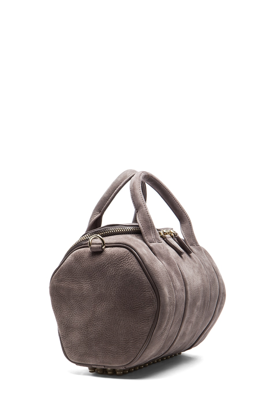 Image 3 of Alexander Wang Rockie Nubuck Bag with Pale Gold in Elephant