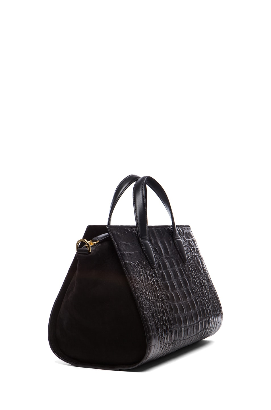 Image 3 of Alexander Wang Pelican Satchel with Yellow Gold in Black