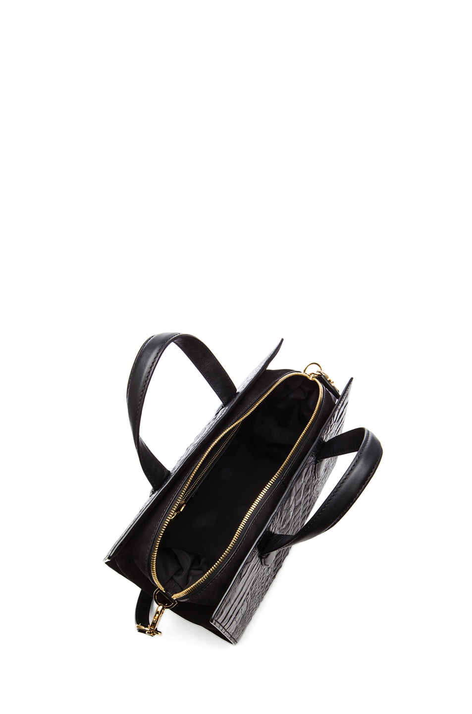 Image 4 of Alexander Wang Pelican Satchel with Yellow Gold in Black