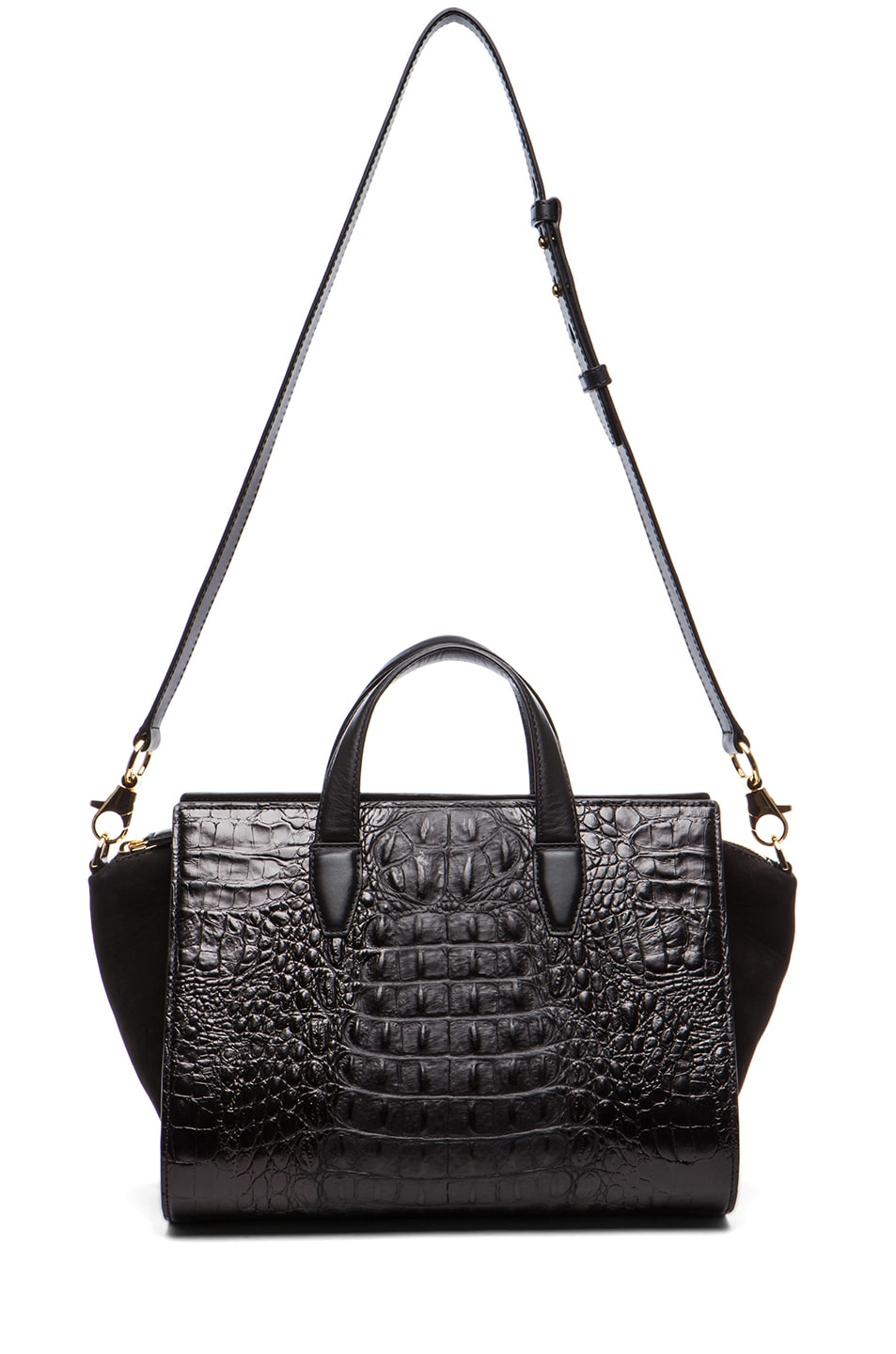 Image 5 of Alexander Wang Pelican Satchel with Yellow Gold in Black